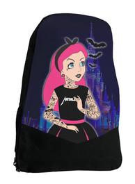 Tattoo Princess Darkside Alternative Gothic Disney Backpack Laptop Bag