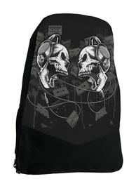 Headphone Skull Darkside Backpack Laptop Bag