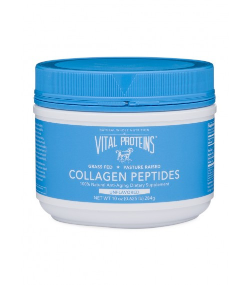 Vital Proteins, Collagen Peptides, Unflavored, 10 oz (284 g)  What are Collagen Peptides?  Collagen is the most abundant protein in the body and is a key constituent of all connective tissues. Collagen provides the infrastructure of the musculoskeletal system, essential for mobility. Peptides are short chain amino acids naturally derived from collagen protein. These natural peptides are highly bio-available, digestible and soluble in cold water. The intake of collagen ensures the cohesion, elasticity and regeneration of skin, hair, tendon, cartilage, bones, and joints.  Collagen is a natural and healthy ingredient that has been used for centuries. Collagen-rich foods are a large part of traditional diets. Our ancestors utilized whole-animal nutrition, which provided an abundant amount of collagen, the native form of gelatin. Over time, we have lost touch with this powerful, healing superfood.  Vital Proteins Collagen Peptides are sourced from grass fed, pasture raised bovine hides from Brazil, to ensure a natural, high quality, and sustainable source of this ancient nutritional powerhouse.