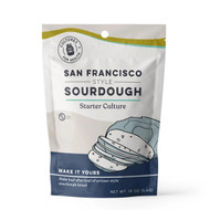 San Francisco sourdough starter comes as a dried culture. Dried sourdough starters are shelf-stable and do not have to be fed or cared for immediately. Dried sourdough starters can be ready to create baked goods within 3 to 5 days.