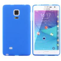 Blue Samsung Galaxy Note Edge Matte TPU Gel Case Cover