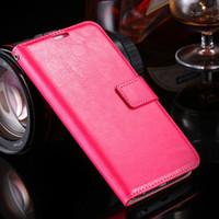 Hot Pink Samsung Galaxy S6 Edge Stylish Textured Wallet Case - 1