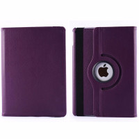 Purple 360 Rotating Leather Stand Case Smart Cover For Apple iPad Air 2