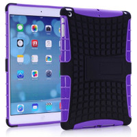 Purple Shock Proof Defender Hybrid Kickstand Case For Apple iPad Mini 3 - 1