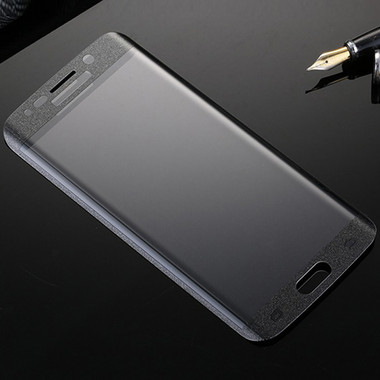 Black Samsung Galaxy S6 Edge Full Cover Curved Glass Screen Protector - 1