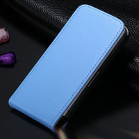 Blue Leather Vertical Flip Case For Apple iPhone 5 / 5S / SE - 1
