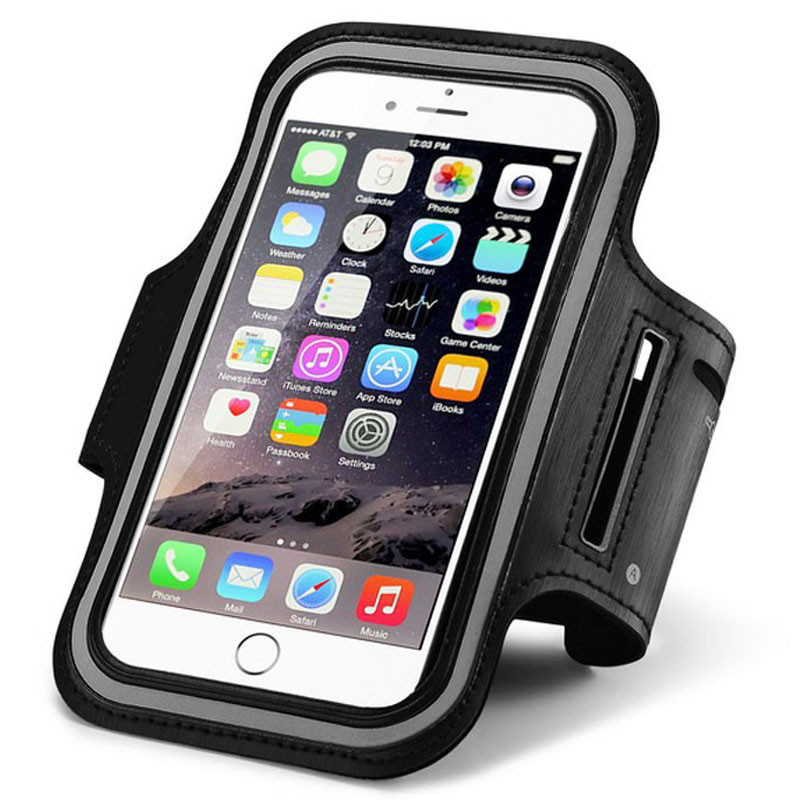 check out de417 4b42b Black iPhone 6 / 6S Universal Armband for Running, Biking & Fitness