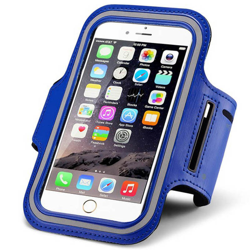 huge selection of ecf7f a55df Blue iPhone 6 Durable Sweat-resistant Sports Armband Case Cover