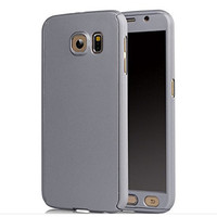 Silver Samsung Galaxy S6 360 Degree Case with Tempered Glass Guard - 1