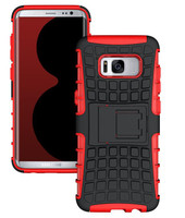 Red Heavy Duty Defender  Kickstand Case For Samsung Galaxy S8