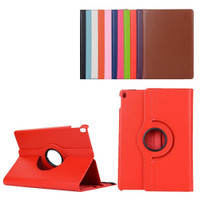 "Red iPad Pro 10.5"" 2017 360 Degree Rotating Premium Synthetic Leather Case Stand - 1"