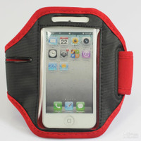 iPhone 4 / 4S Sports Armband Case / Cover - Red