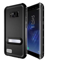 Black Shock Proof Waterproof Kickstand Case For Samsung Galaxy S8 Plus - 1