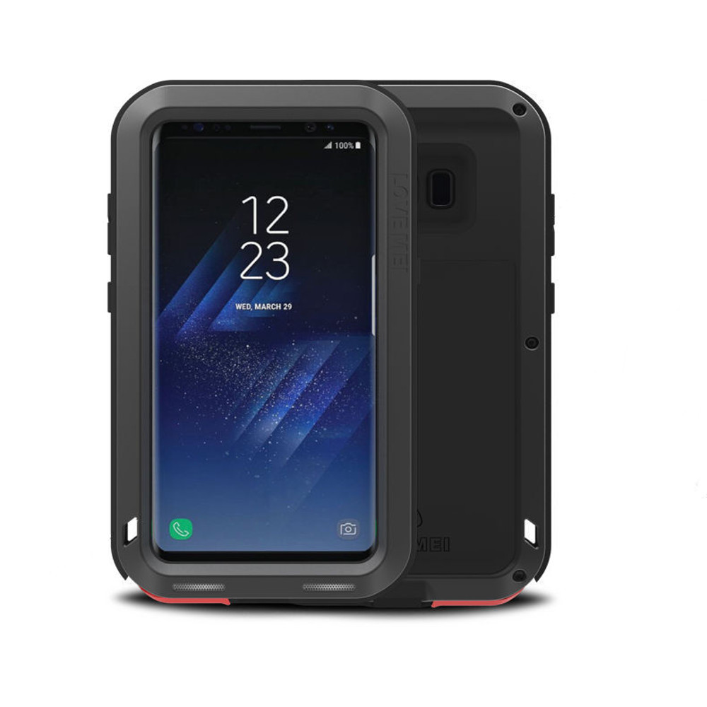 separation shoes 64e9f 68a94 Black Metal Water Resistant Shockproof Case For Samsung Galaxy S6 Edge