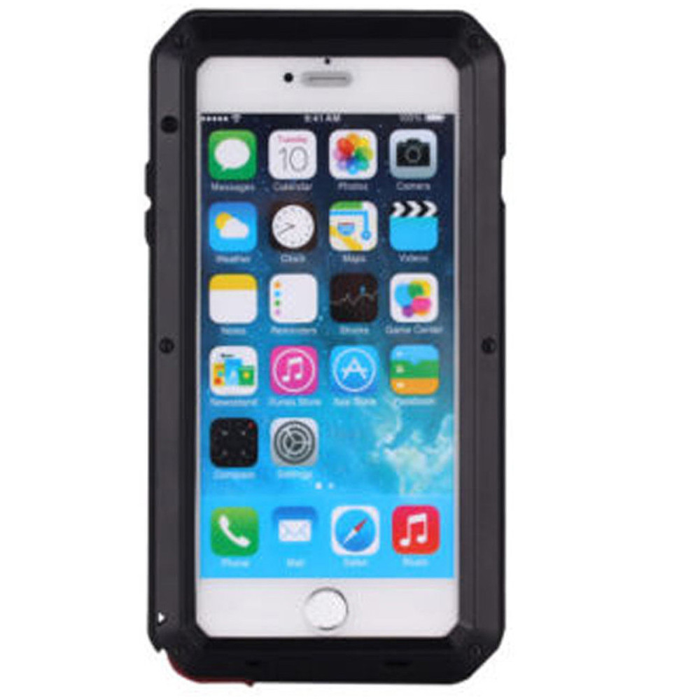 buy popular 7972b 892a4 Apple iPhone 8 Plus Black Water Resistant Shockproof Metal Case
