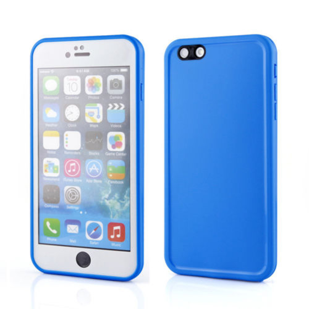pretty nice 5d9b6 c1be2 Apple iPhone 8 Plus Rubber Full Body Protection Silicone Gel Case - Blue