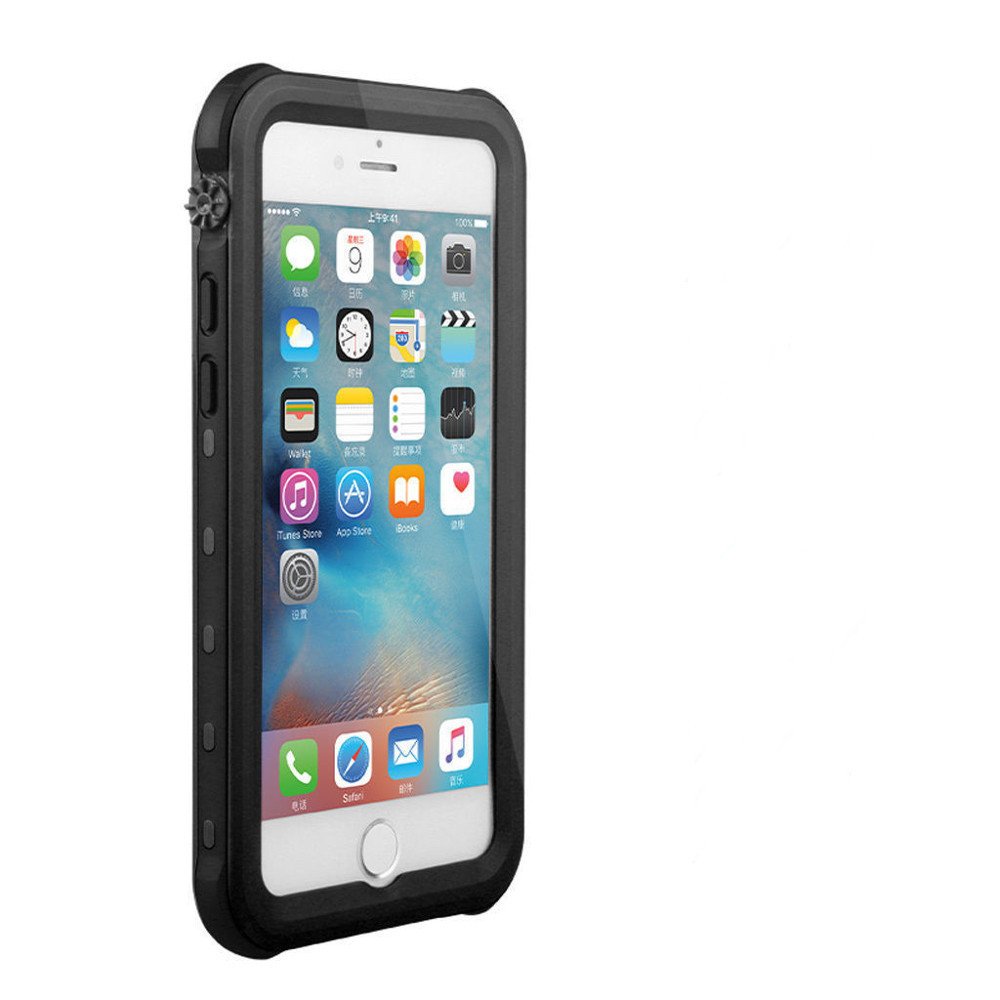 super popular 4877c 364e2 Black Waterproof Dirtproof Defender Smart Case Cover For Apple iPhone 8 Plus