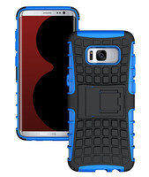 Samsung Galaxy S8 Plus Blue Defender Shock Proof Kickstand Smart Case Cover - 1