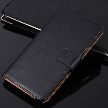 Black Samsung Galaxy J7 Pro (2017) Genuine Leather Wallet Case - 1