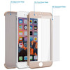 Gold iPhone 8 Dual Layer 360 Degree Protection Case + Tempered Glass - 2