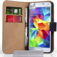Samsung Galaxy S5 Wallet Case - Open