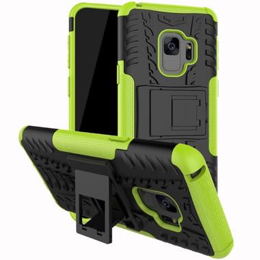 Samsung Galaxy S9 Green Shock Proof Armor Kickstand Case - 1