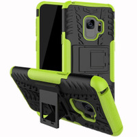 Samsung Galaxy S9 Plus Green Shock Proof Armor Kickstand Case - 1