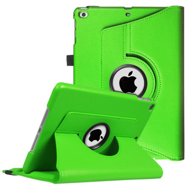 """Green iPad 9.7"""" 2018  360 Degree Rotating Stand Protective Case - 1"""