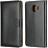 Black Samsung Galaxy J2 Pro Genuine Leather Business Wallet Case - 1
