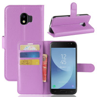 Purple Litchi Wallet Case Card Slots For Samsung Galaxy J2 Pro (2018)
