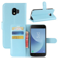 Aqua Litchi Wallet Case Card Slots For Samsung Galaxy J2 Pro (2018)