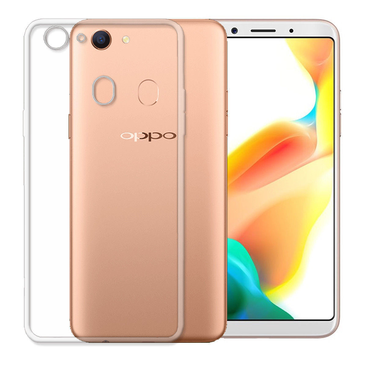 buy popular 5a3b9 c3d5b Ultra Slim Shockproof Soft Gel Clear Case Cover For Oppo A73