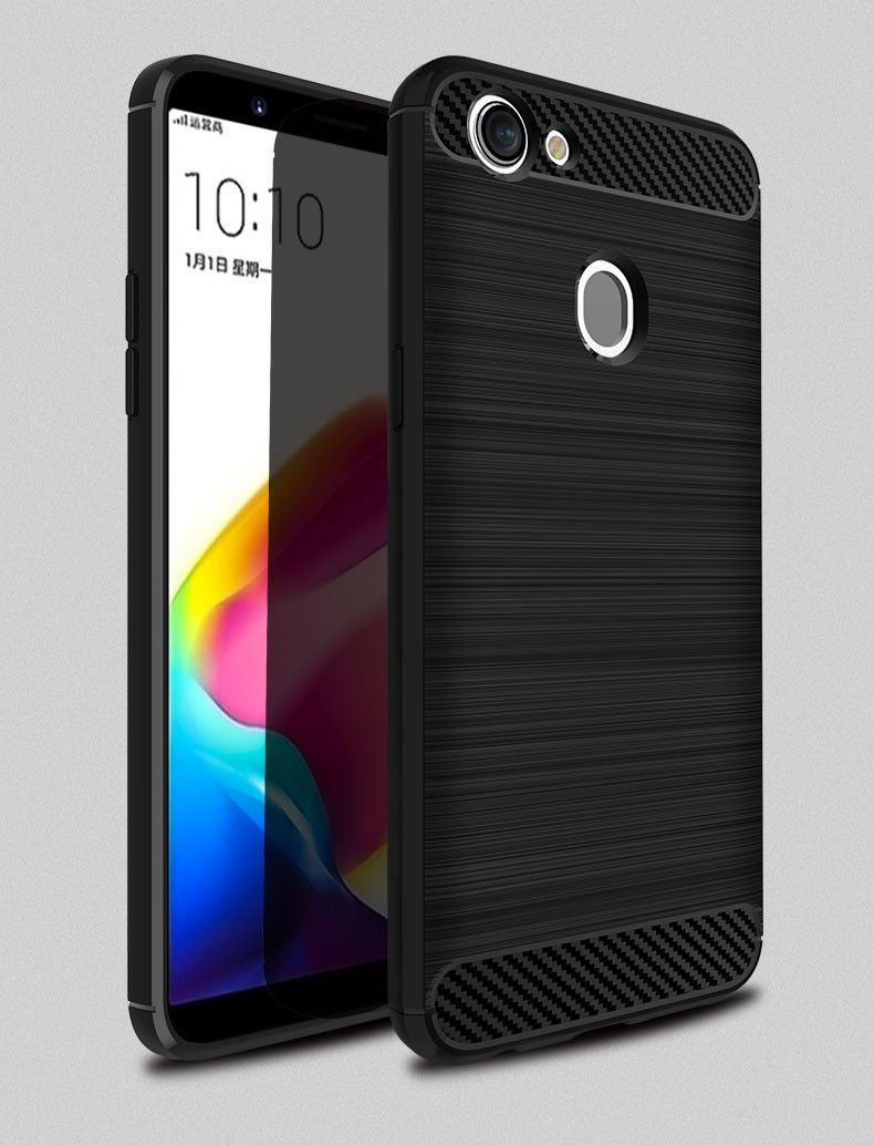 new products f4f6a 52910 Black OPPO A57 Tough Armor Heavy Duty Shockproof Case Cover