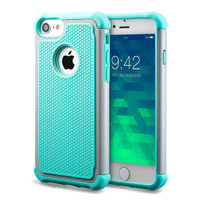 Aqua Apple iPhone 7 / 8 Shock Proof Defender Case.