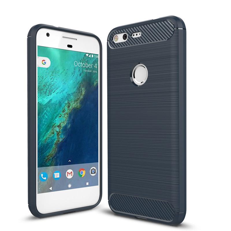 best service 90564 7e274 Black Google Pixel 2 XL Heavy Duty Carbon Fibre Case Cover