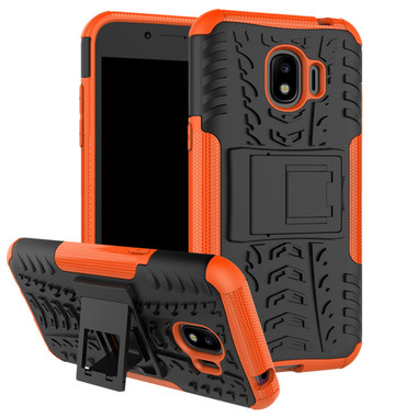 Orange Galaxy J2 Pro (2018) Heavy Duty Defender Kickstand Case