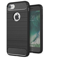 Black iPhone 7/ 8 Slim Armor Shock Proof Carbon Fibre Case Cover - 1