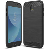 Black Samsung Galaxy J7 Pro 2017 Slim Armor Carbon Fibre Case - 1