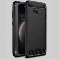 Black Samsung Galaxy S8 Slim Armor Carbon Fibre Case Cover - 1