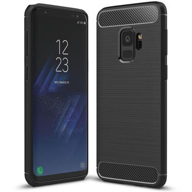 Black Samsung Galaxy S9 Slim Armor Carbon Fibre Case Cover - 1