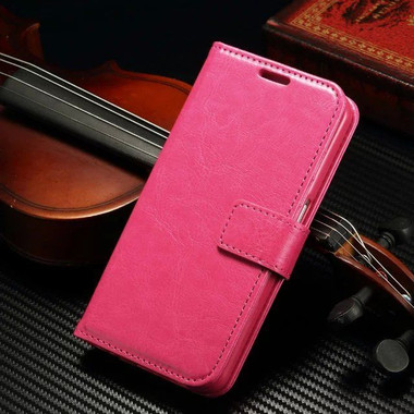 Hot Pink Samsung Galaxy S8 Plus Wallet Stand Case for Women - 1