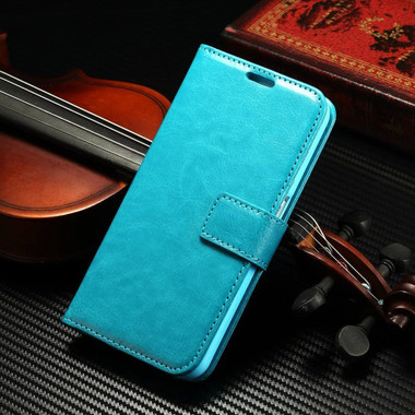 Aqua Samsung Galaxy S8 Plus Wallet Stand Case with Card Slots - 1