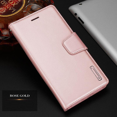 Rose Gold Apple iPhone XS Luxury Hanman Leather Wallet Flip Case Cover - 1