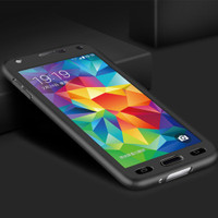Black Galaxy J5 Pro (2017) Full Body Coverage 360 Degree Protect Case - 1
