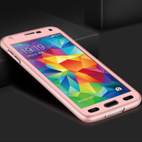 Rose Gold Galaxy J7 Pro (2017) Full Body 360 Degree Protect Case - 1