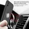 Black Magnetic 360 Degree Ring Stand Shock Proof Case For iPhone XR - 4