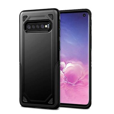 Black Slim Heavy Duty Defender Case For Samsung Galaxy S10 - 1
