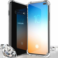Liquid Crystal Bumper Absorption TPU Gel Case For Samsung Galaxy S10 - 1