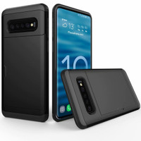 Black Slide Armor Shock Proof Defender Case Slots for Galaxy S10