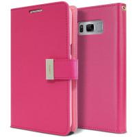 Hot Pink Galaxy S10+ Plus Genuine Mercury Rich Diary Wallet Case - 1